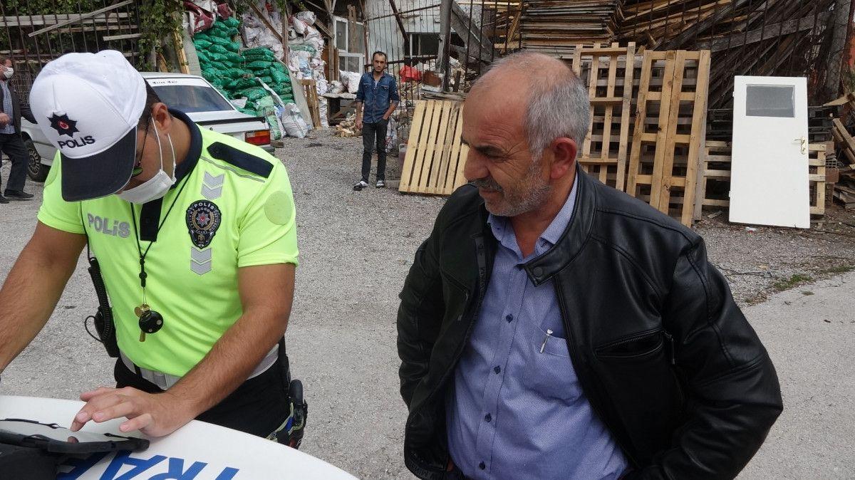 Çorum da polisten kural ihlali yapan sürücüye: Cezanı ben öderim #4
