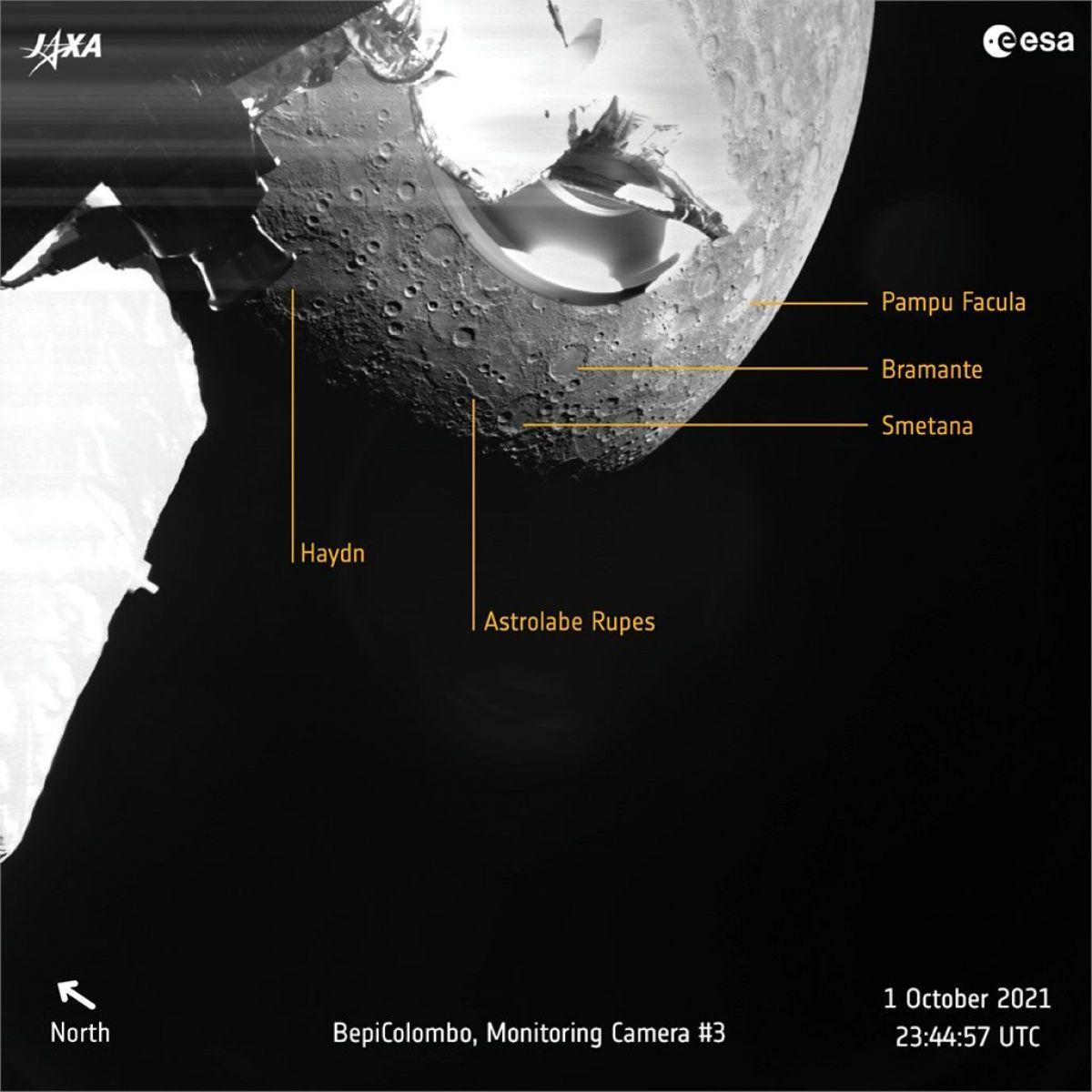 Avrupa Uzay Ajansı, Merkür ün ilk fotoğraflarını gönderdi #1