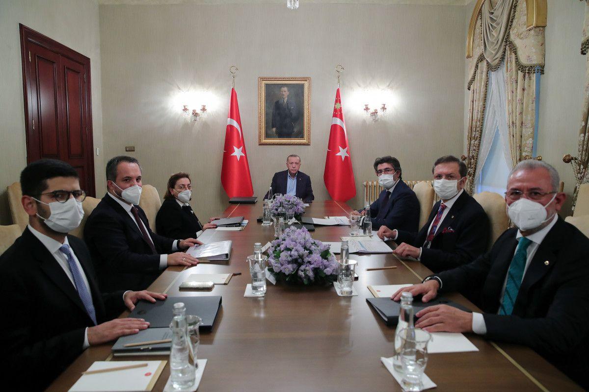 Cumhurbaşkanı Erdoğan, Uluslararası Demokratlar Birliği heyetiyle görüştü #6