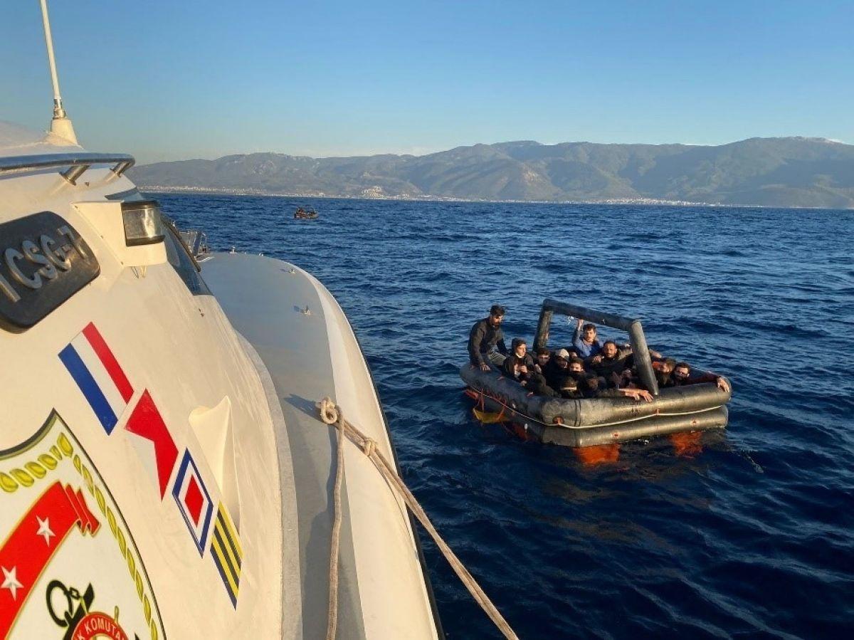 Aydın'da 67 düzensiz göçmen kurtarıldı #2