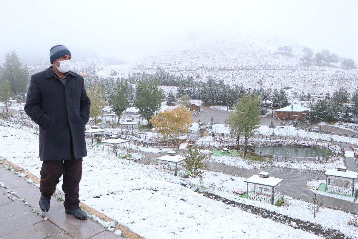 Palandöken Kayak Merkezi, sonbaharda beyaz örtüyle kaplandı #2