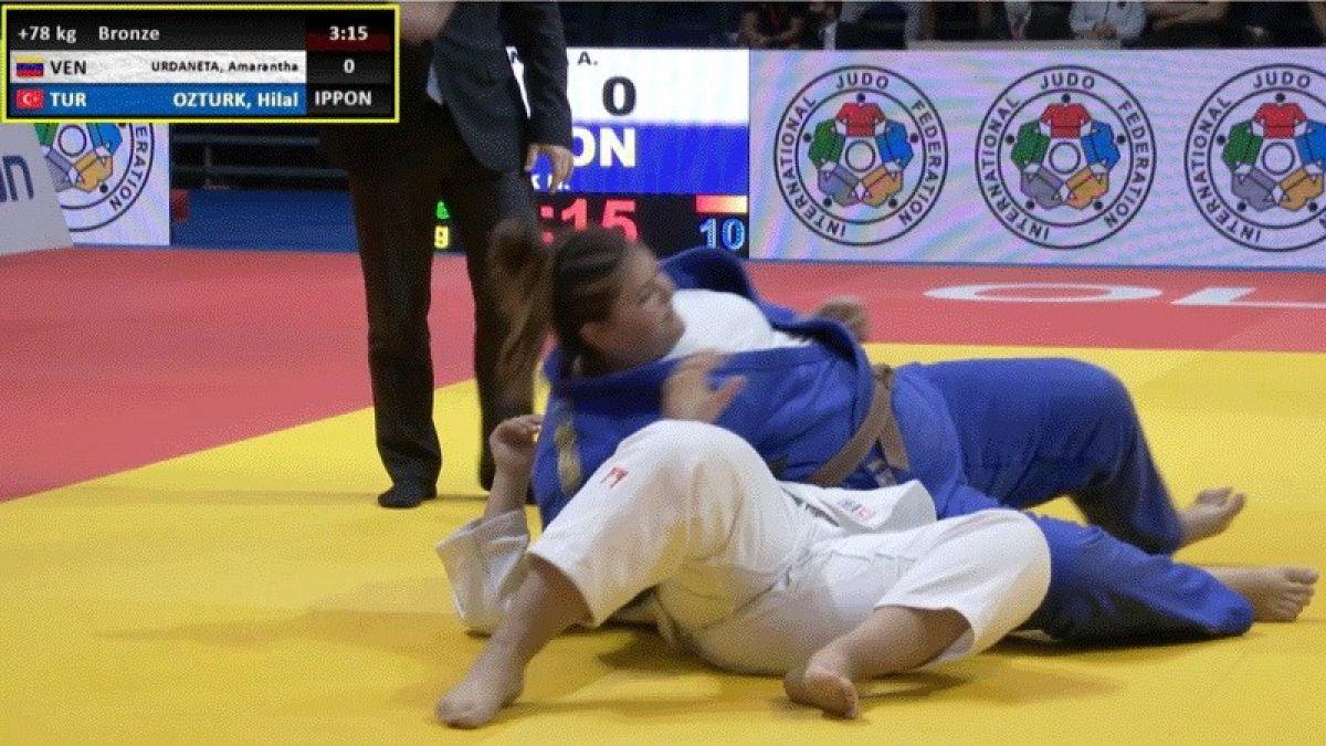 Milli judocu Hilal Öztürk dünya üçüncüsü #4