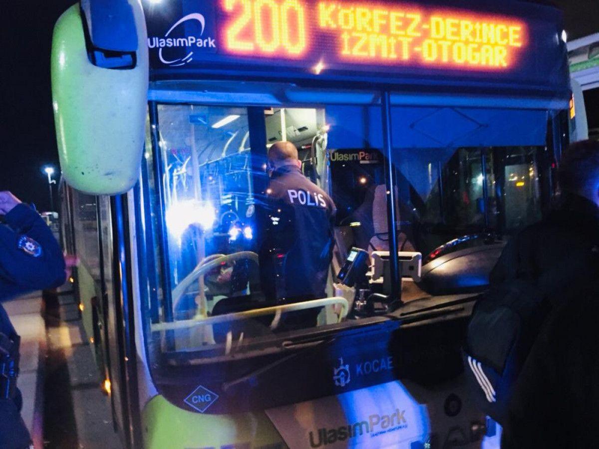 Kartal da otobüsten inmeyen koronavirüs hastası kadını polis indirdi #5