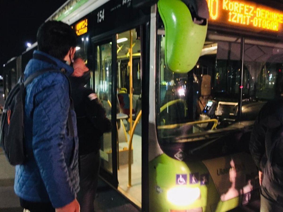 Kartal da otobüsten inmeyen koronavirüs hastası kadını polis indirdi #2