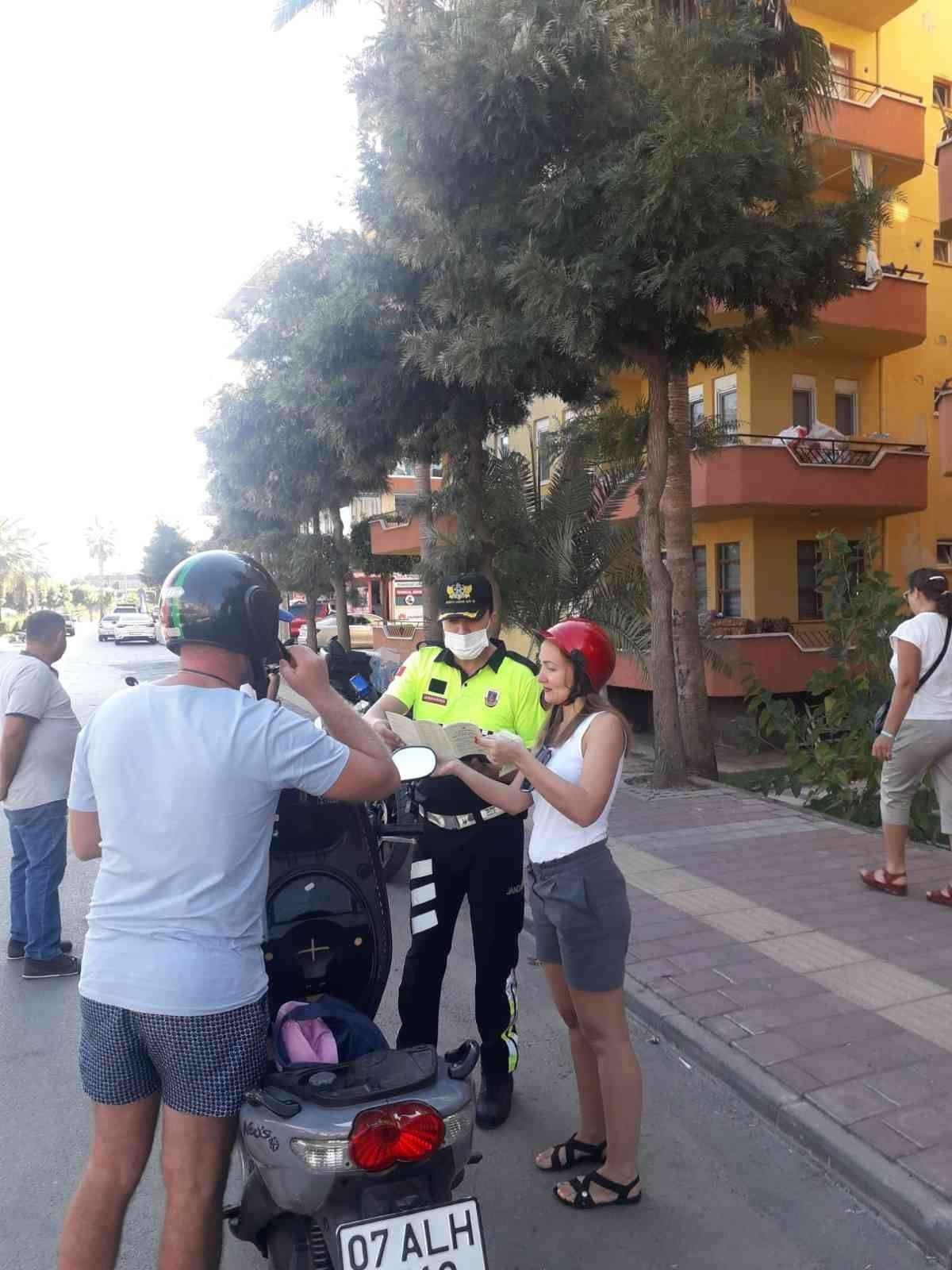 Antalya da kask takmayan 380 sürücüye 215 bin lira ceza #5