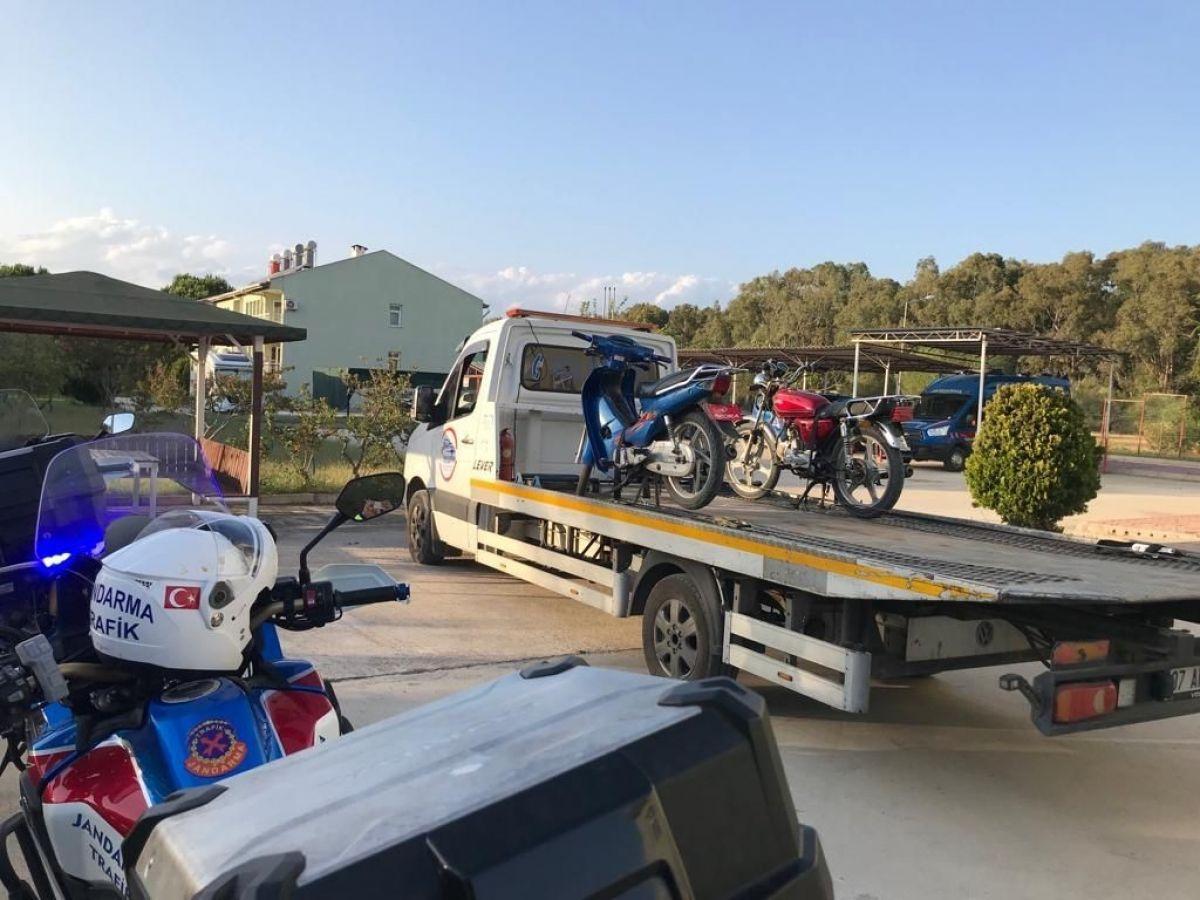 Antalya da kask takmayan 380 sürücüye 215 bin lira ceza #1