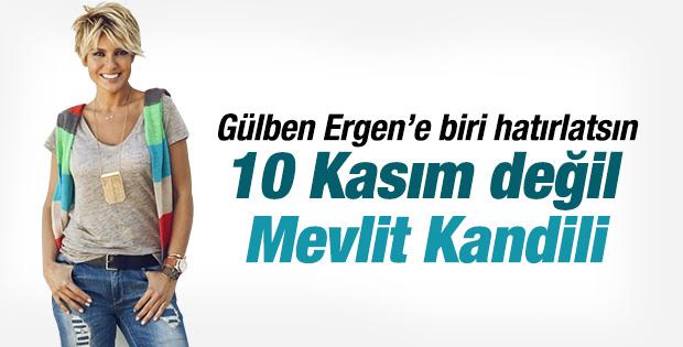Gülben Ergen'den Atatürk'lü kandil mesajı
