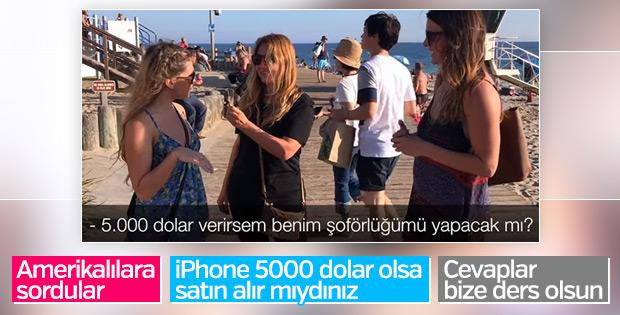ABD'lilere iPhone 5 bin dolar olsa alır mısınız sorusu