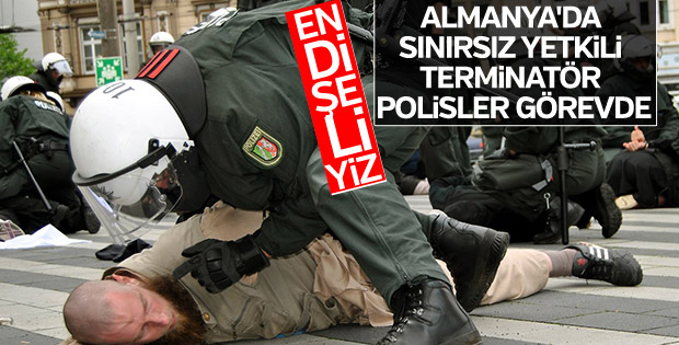 Almanya'da terminatör polis yasası meclisten geçti