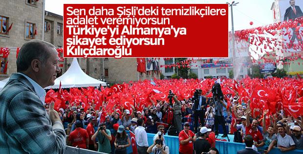 Cumhurbaşkanı Erdoğan'dan Kılıçdaroğluna 'adalet' tepkisi