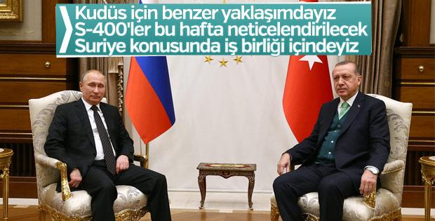 Erdoğan: Rusya'yla iş birliği içindeyiz