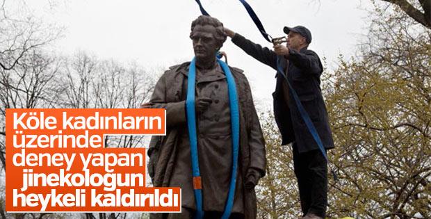Central Park'taki Dr. Sims heykeli kaldırıldı