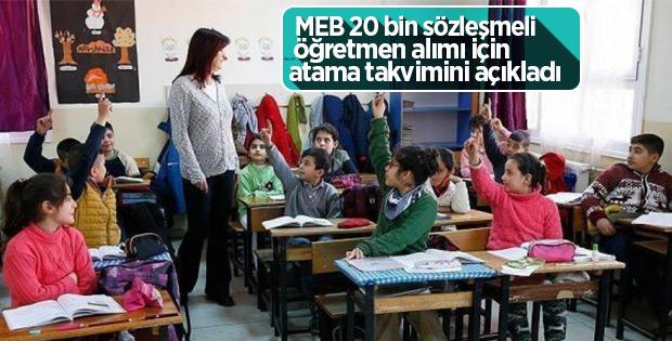 20 bin sözleşmeli öğretmen alım takvimi belirlendi