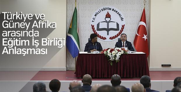 Türkiye ve Güney Afrika eğitimde iş birliği yaptılar