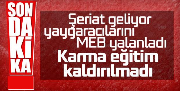 MEB'den karma eğitim açıklaması