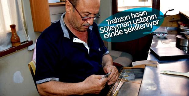 Yarım asırdır Trabzon hasırını yaşatıyor