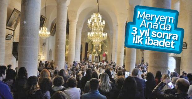 Tarihi Meryem Ana Kilisesi ibadete açıldı