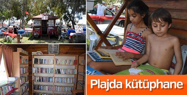 İzmir'de plaj kütüphanesi