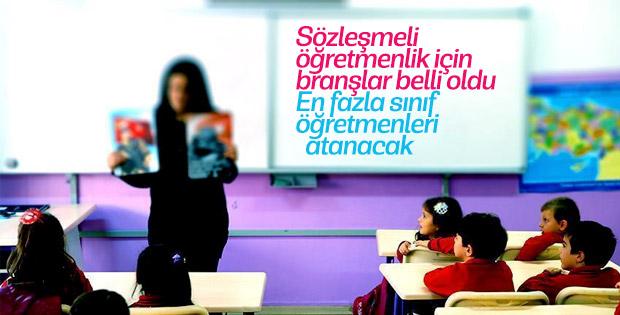 20 bin sözleşmeli öğretmen için branşlar açıklandı