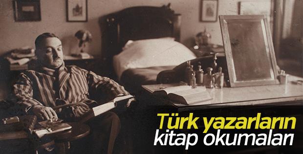 Türk yazarlar kitap okurken
