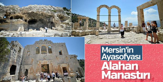 Alahan Manastırı'na ziyaretçi yoğunluğu