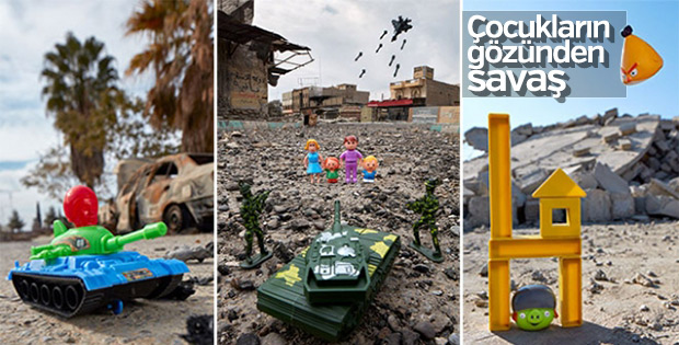 Fotoğrafçı, savaşı çocukların gözünden gösteriyor