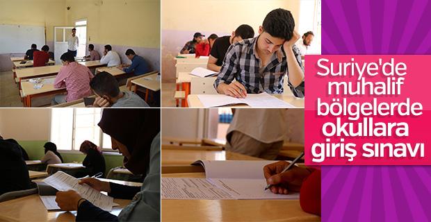 Suriye'de okullara giriş sınavları yapılıyor