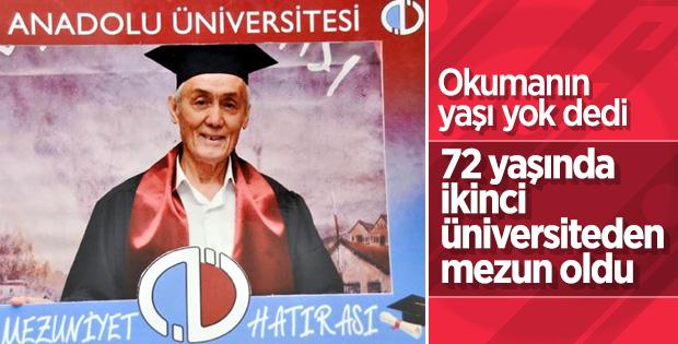 72 yaşında ikinci üniversiteyi bitirdi
