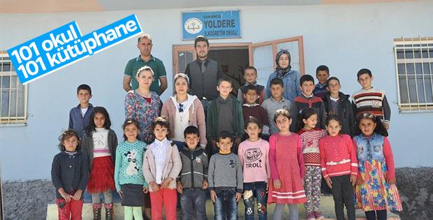Van'da yedi okula daha kütüphane yapıldı