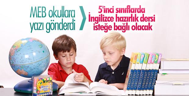 İngilizce hazırlık dersi okullara ve velilere bağlı
