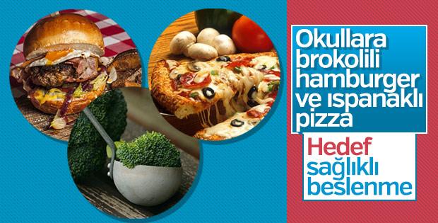 Okullarda brokolili hamburger ve ıspanaklı pizza kararı