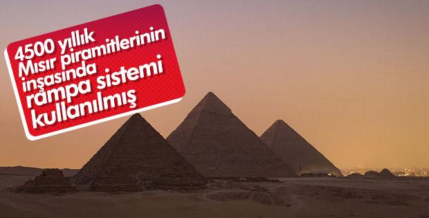 Mısır piramitlerinin rampa sistemi bulundu