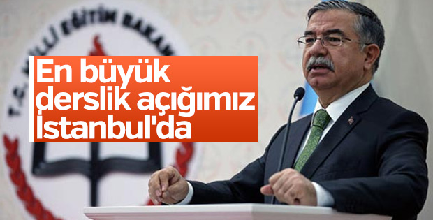 Bakan Yılmaz: En büyük derslik açığımız İstanbul'da