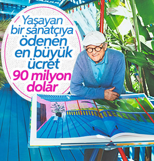 Ressam David Hockney'in tablosuna 90 milyon dolar