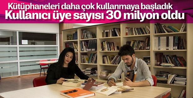 Kütüphane kullanıcıları bu yıl 30 milyona ulaştı