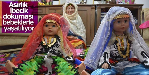 İbecik dokumasına süs bebeklerle hayat veriyorlar