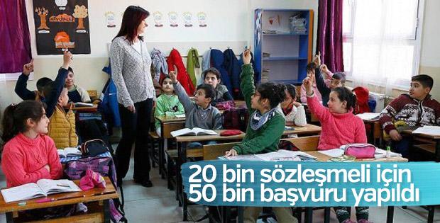 Sözleşmeli öğretmenlik için 50 bin başvuru