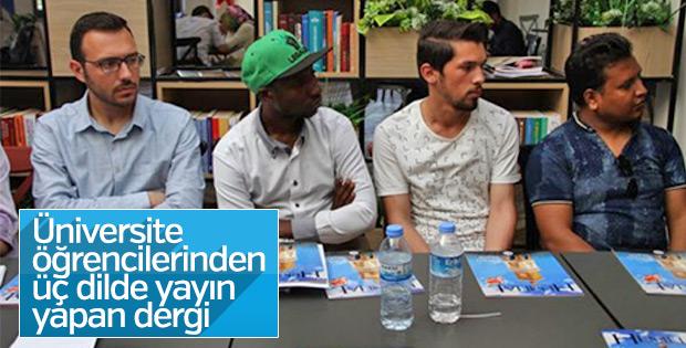 Öğrencilerden üç dilde yayın yapan dergi
