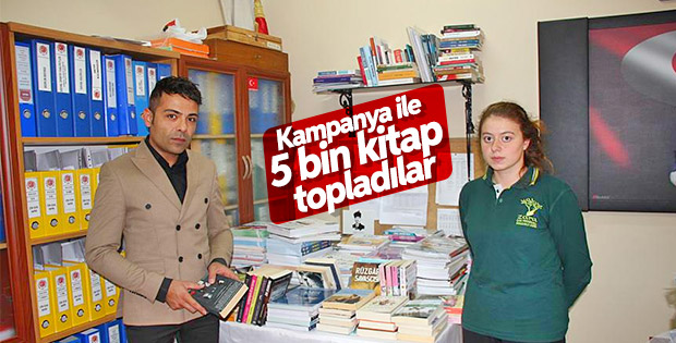 Kampanyayla toplanan kitaplar okullara gönderildi