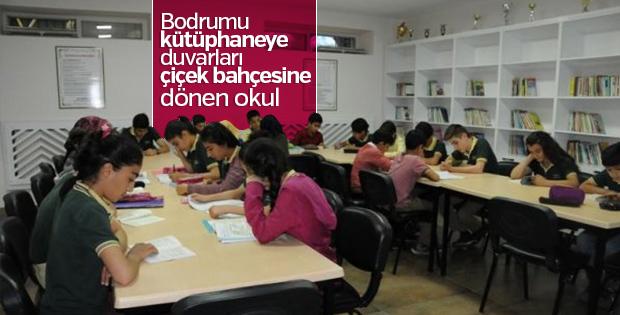 Bodrumu kütüphaneye dönüştürdü, okulda başarı oranı arttı
