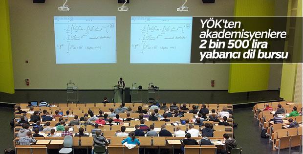 YÖK'ten akademisyenlere burs desteği