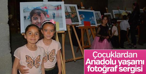Köy çocukları Anadolu hayatını fotoğrafladı