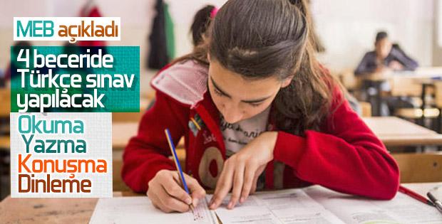 Dört beceride Türkçe sınavı geliyor