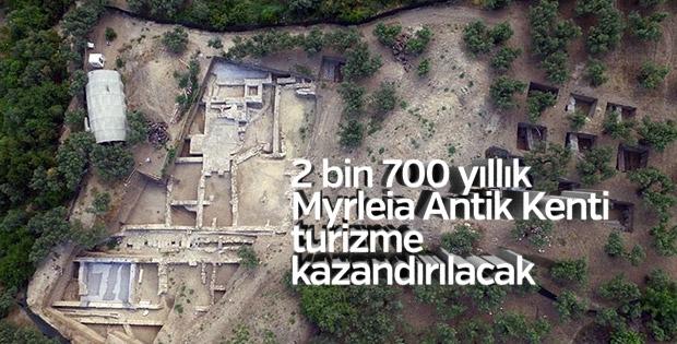 Myrleia Antik Kenti turizme kazandırılıyor