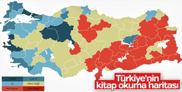 Türkiyenin Illere Göre Kitap Okuma Oranları