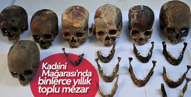 Antalya Kadıini Mağarası'nda Tunç Devri'ne ait mezar