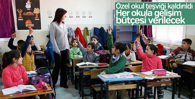 Özele destek devlet okulu bütçesine