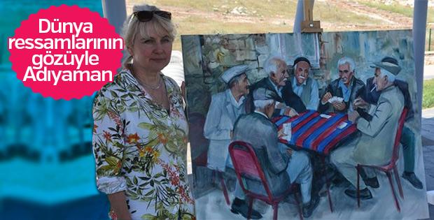 Yabancı sanatçılar Adıyaman'ı resmetti