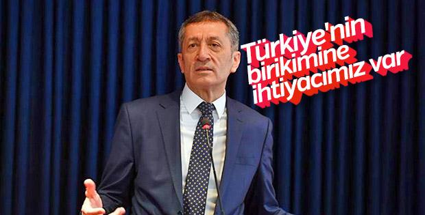 Bakan Selçuk: Türkiye'nin birikimine ihtiyacımız var