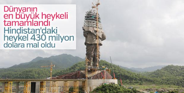 Dünyanın en büyük heykeline sona doğru